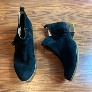 Lucky Brand Black & Brown Ankle Booties